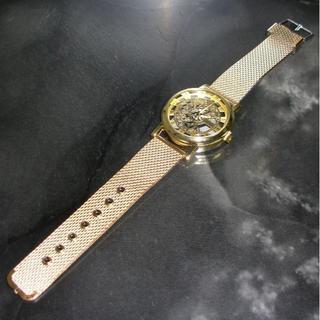 IMPORT スケルトン ゴールド ユニセックス 腕時計 金属ケース(ラバーベルト)