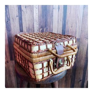 イデー(IDEE)のantique basket(かごバッグ/ストローバッグ)