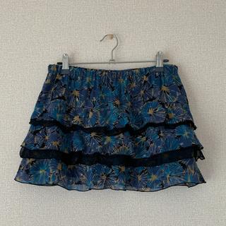 アルカリ(alcali)のアルカリ☆ティアードスカート 花柄(ミニスカート)