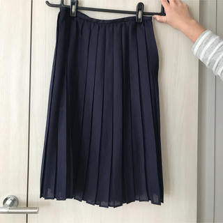 ストラ(Stola.)のstola ネイビー プリーツスカート36 (ひざ丈スカート)