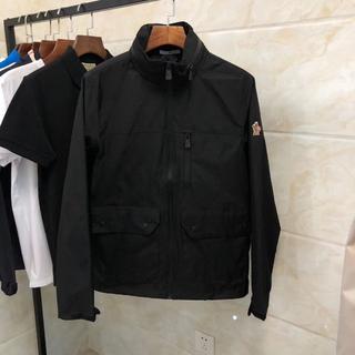モンクレール(MONCLER)のmonclerコートのジャケットブラック メンズXXLサイズ(テーラードジャケット)