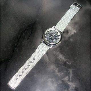 IMPORT スケルトン シルバー ユニセックス 腕時計 金属ケース(ラバーベルト)