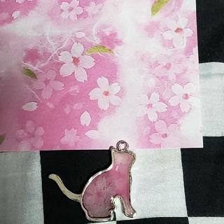 猫 和紙 レジン(キーホルダー/ストラップ)