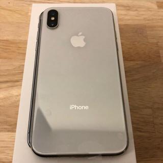 アップル(Apple)のiPhone X silver 64GB docomo(スマートフォン本体)