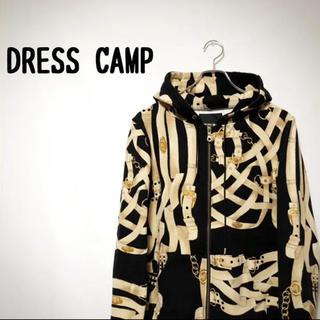 DRESS CAMP ドレスキャンプ パーカー 総柄 オシャレ 古着
