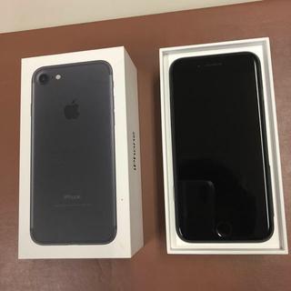 アイフォーン(iPhone)の【美品】iphone7 32GB マットブラック SIMロック解除済み(スマートフォン本体)