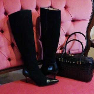マノロブラニク(MANOLO BLAHNIK)のマノロブラニク ブーツ 未使用 37,5(ブーツ)