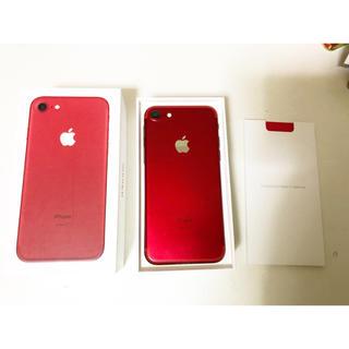 アップル(Apple)のiPhone7 red 128GB docomo(スマートフォン本体)