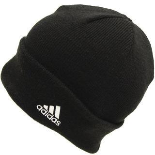 アディダス(adidas)のadidas アディダスニット帽子 ワッチ ビーニー ロゴ★ブラックホワイト新品(ニット帽/ビーニー)