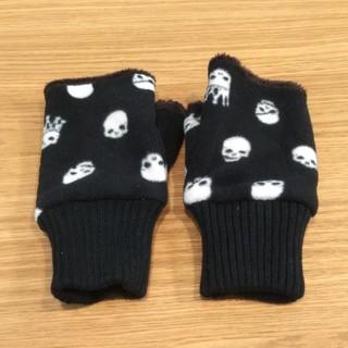 スカルシット(SKULL SHIT)の◆ほぼ新品◆ 手袋 アームカバー 指なし ミトン スカル ドクロ 車 ボア  (手袋)