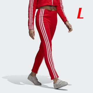 アディダス(adidas)の【レディースL】赤  トラックパンツ  アディダスオリジナルス(その他)