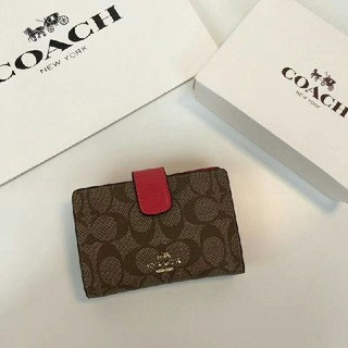 COACH - ★新品★COACH二つ折り財布佐川で国内発送 F53562 ローズレッド
