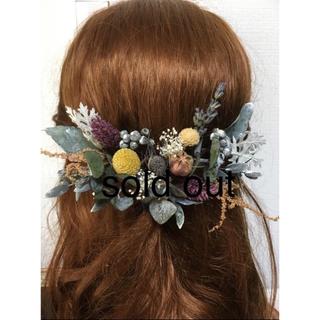ヘッドドレス 髪飾り ヘッドパーツ アンティーク  ヘッドアクセサリー グリーン
