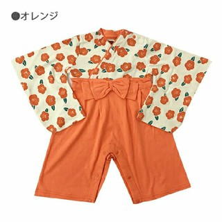 【新品☆訳あり】 80 ベビー 女の子 袴 ロンパース(和服/着物)