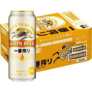 キリン(キリン)の麒麟 一番搾り ビール 500ml 24本入りケース (ビール)