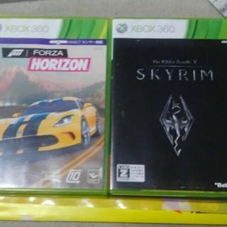 エックスボックス360(Xbox360)のフォルツァホライゾン、スカイリム、フォールアウト、レフトフォーデッド(家庭用ゲームソフト)