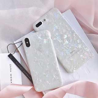 オーロラ シェル 貝殻 光沢 iPhoneX iPhoneXS(iPhoneケース)