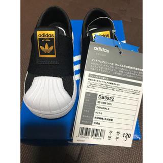 アディダス(adidas)の新品 アディダス オリジナルス サンダル スリッポン 12cm キッズ ブラック(サンダル)