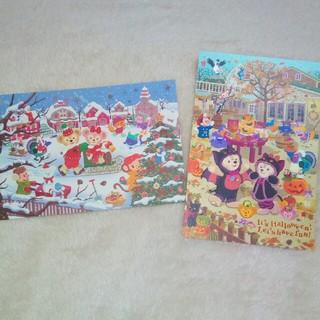 ダッフィー(ダッフィー)のダッフィー シェリーメイ■クリスマス ハロウィン ポストカード(キャラクターグッズ)