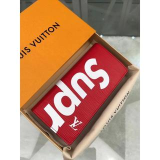 Louis Vuittonルイヴィトン 長財布 シュプリーム メンズ 赤い