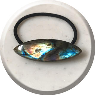 ♢ラブラドライト♢ヘアゴム♢天然石♢(ヘアアクセサリー)