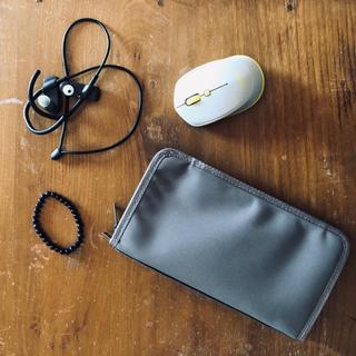 MUJI (無印良品) - 【新品未使用】無印良品 ポリエステルパスポートケース ライトグレー