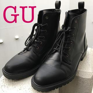 ジーユー(GU)のGU☆ジーユー レースアップブーツ 黒(ブーツ)