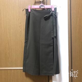 ジーユー(GU)の11.ラップスカート (ひざ丈スカート)