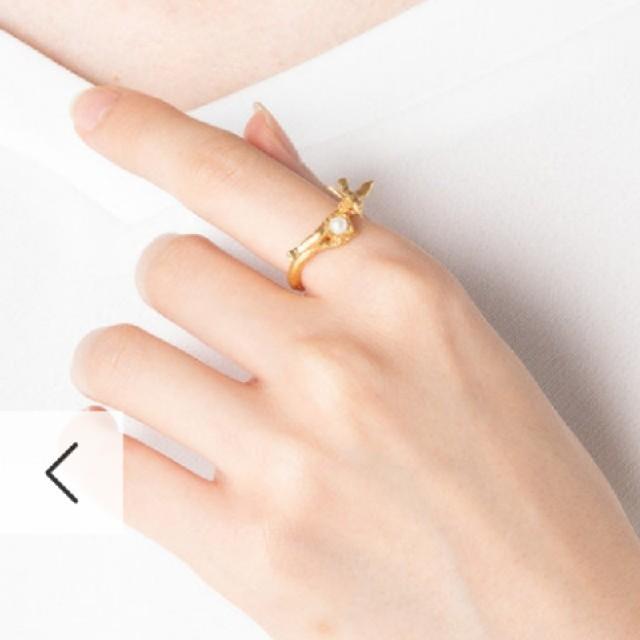 H.P.FRANCE(アッシュペーフランス)のアレックスモンロー ☆ 鳥とパールのリング レディースのアクセサリー(リング(指輪))の商品写真