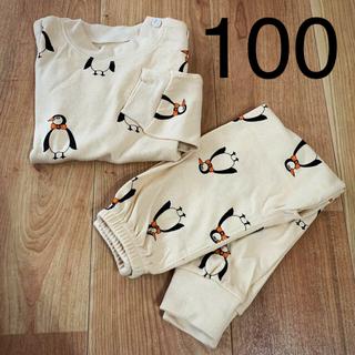 こども ビームス - 【新品】韓国子供服 ペンギン柄 パジャマ 100