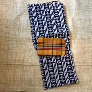 レトロ 浴衣と帯のセット(浴衣)