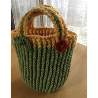 手編みの手提げバッグ(お子様向け)(バッグ)