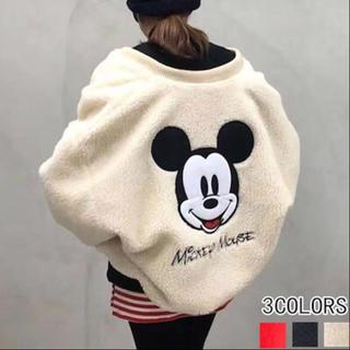 ディズニー(Disney)のミッキーボアブルゾン フリース ディズニー ペアルック(ブルゾン)