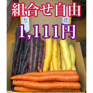 彩りフルーツニンジン規格外訳あり1.5Kg以上。5色選びたい放題です!(野菜)