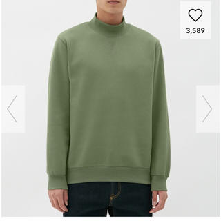 GU - 【新品】 GU スウェットモックネックシャツ