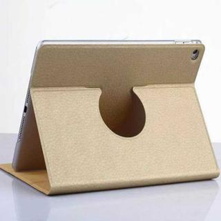 iPad Air2 ゴールド シンプル 360度回転 iPadケース(iPadケース)