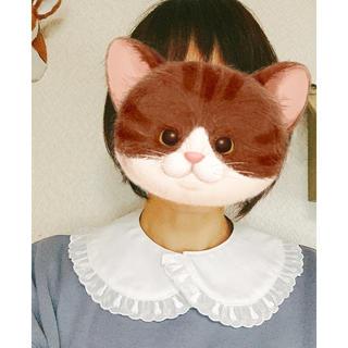 送料込み☆猫のレース つけ襟 つけえり(つけ襟)