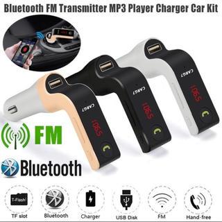 新品BluetoothFMトランスミッター  カラーホワイト(車内アクセサリ)