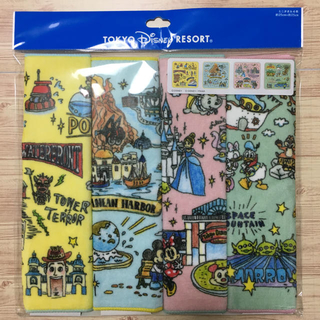 Disney - ディズニーリゾート ファンマップ ミニタオル4枚セット