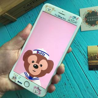 新品★ディズニーダッフィー強化ガラスフィルム☆iPhone6 6s 7 8対応