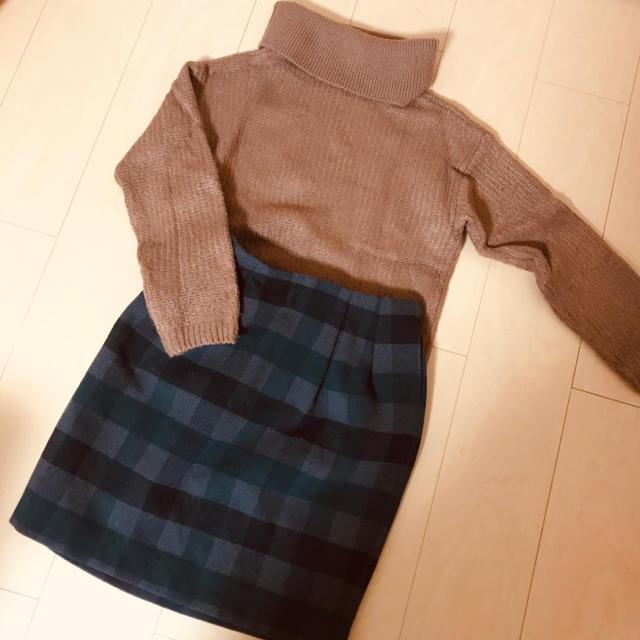 RayCassin(レイカズン)のブロックチェックスカート レディースのスカート(ひざ丈スカート)の商品写真