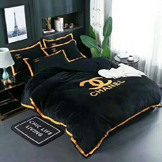 シャネル(CHANEL)のCHANEL 高品質生地綿&寝具カバー 4点セット 掛け布団カバー 高級感(シーツ/カバー)
