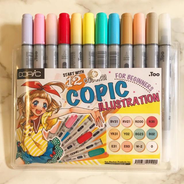 英語版12色でスタートはじめてのコピックイラストスタート12色セット
