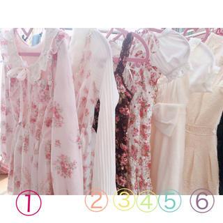 リズリサ(LIZ LISA)のLIZLISA⑤ホワイト フロントリボンワンピース ドレス(ミニワンピース)