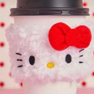 スターバックスコーヒー(Starbucks Coffee)のハローキティ スリーブ(キャラクターグッズ)