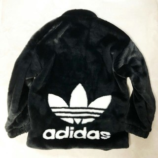 アディダス(adidas)のadidasファージャケット ファーコート アディダスオリジナルスサイズM(毛皮/ファーコート)
