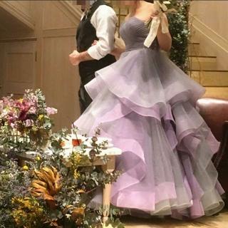 ■売り切り価格■おしゃれ グレーパープル カラードレス ウエディングドレス