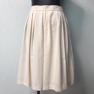 エージーバイアクアガール(AG by aquagirl)のアクアガール  オフホワイト きれいめ スカート L(ひざ丈スカート)
