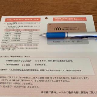 イセタン(伊勢丹)の伊勢丹三越♡株主優待カード200万円(ショッピング)