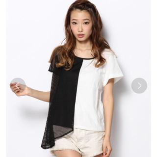 アゴストショップ(AGOSTO SHOP)のAGOSTO メッシュ切替Tシャツ(Tシャツ(半袖/袖なし))